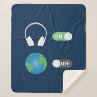 The Music Switch Sherpa Blanket