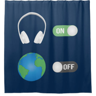The Music Switch Shower Curtain
