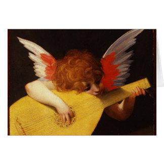 The Musical Angel - Vintage Christmas Card