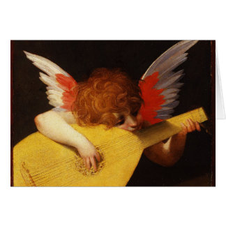 The Musical Angel - Vintage Christmas Card