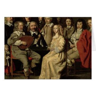 The Musical Reunion, 1642 Card