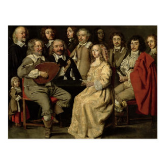 The Musical Reunion, 1642 Postcard