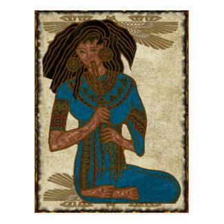 The Musician Egyptian Folk Art Postcard