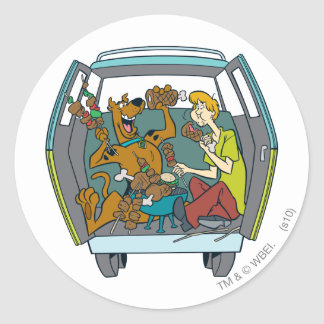 The Mystery Machine Shot 17 Round Sticker
