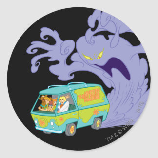 The Mystery Machine Shot 20 Round Sticker