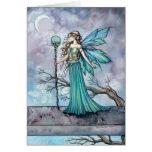 The Mystic Tree Fantasy Fairy Art Greeting Card