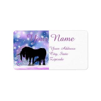The Mystical Black Unicorn (Let It Snow) Label