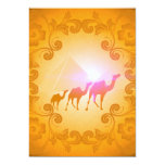 The myth and the secrets of the pyramids 5x7 paper invitation card