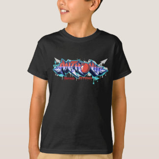 The name Anthony in graffiti-Kids Hip-Hop Tee Blk