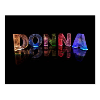 The Name Donna in 3D Lights (Photograph) Postcard