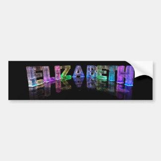 The Name Elizabeth in 3D Lights (Photograph) Bumper Sticker