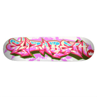 The name Elizabeth in graffiti Skate Boards