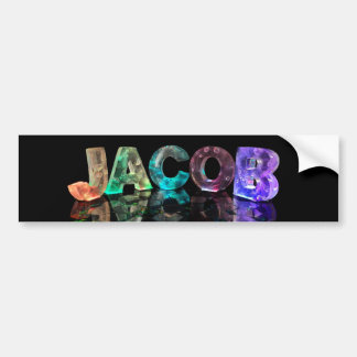 The Name Jacob in 3D Lights (Photograph) Bumper Sticker
