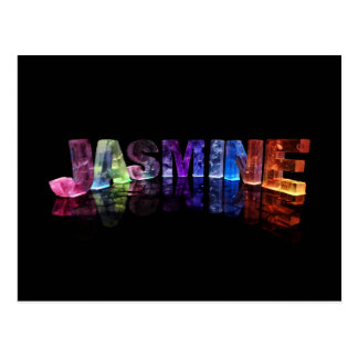 The Name Jasmine in 3D Lights (Photograph) Postcard