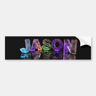 The Name Jason in 3D Lights (Photograph) Bumper Sticker