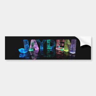 The Name Jayden in 3D Lights (Photograph) Bumper Sticker