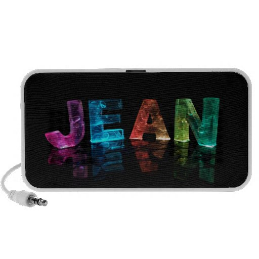 The Name Jean in 3D Lights (Photograph) Mini Speaker