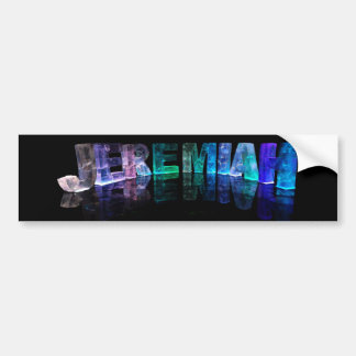 The Name Jeremiah in 3D Lights (Photograph) Bumper Sticker