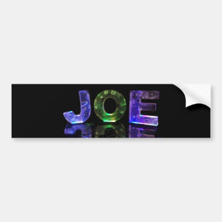 The Name Joe in 3D Lights (Photograph) Bumper Sticker
