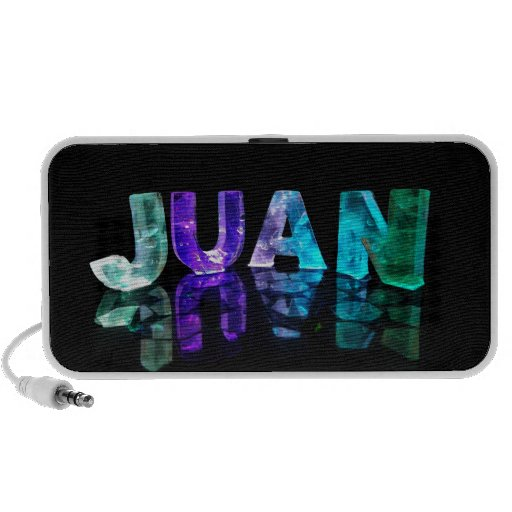 The Name Juan in 3D Lights (Photograph) Speaker System