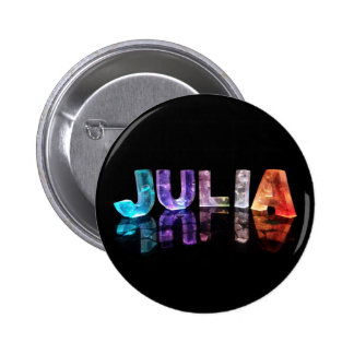 The Name Julia in 3D Lights (Photograph) 6 Cm Round Badge