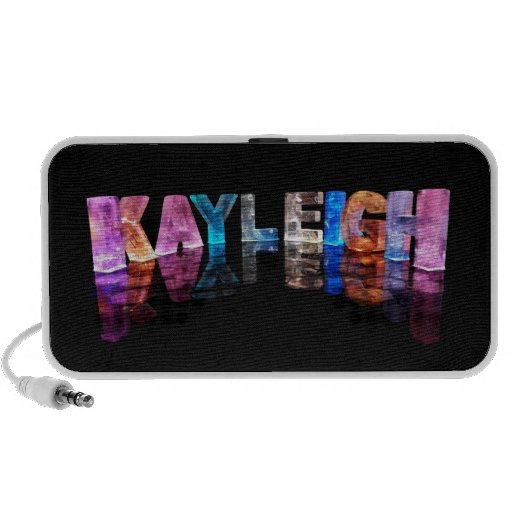 The Name Kayleigh in 3D Lights (Photograph) iPhone Speakers