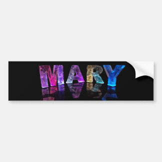 The Name Mary in 3D Lights (Photograph) Bumper Sticker