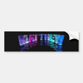 The Name Matthew in 3D Lights (Photograph) Bumper Sticker