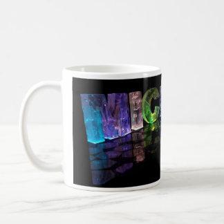 The Name Michael in 3D Lights (Photograph) Basic White Mug