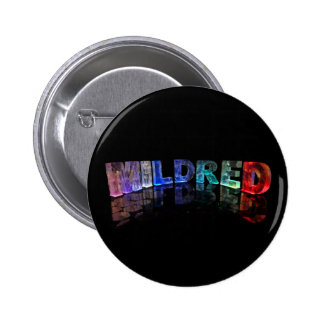 The Name Mildred in 3D Lights (Photograph) Button