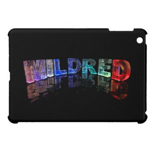 The Name Mildred in 3D Lights (Photograph) iPad Mini Cases