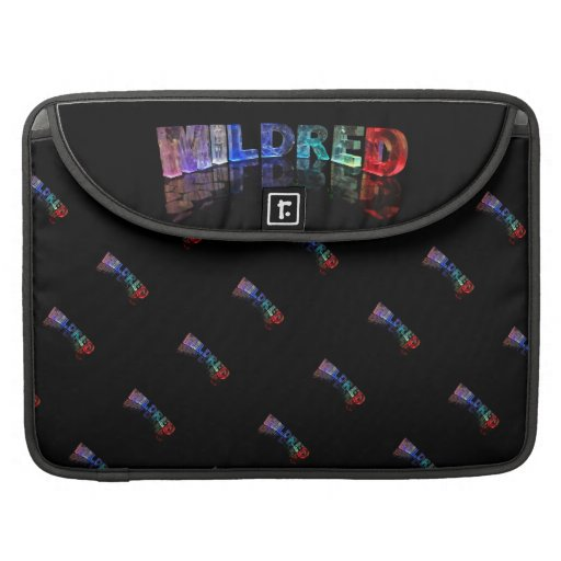 The Name Mildred in 3D Lights (Photograph) MacBook Pro Sleeve
