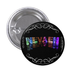 The Name Nevaeh -  Name in Lights (Photograph) 3 Cm Round Badge