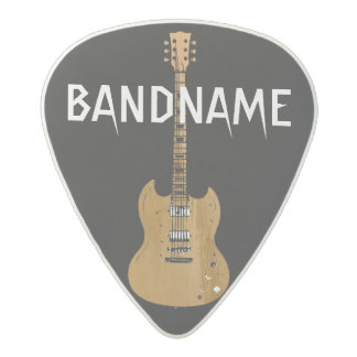 the name of the band, rock, black acetal guitar pick