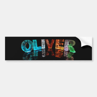 The Name Oliver in 3D Lights (Photograph) Bumper Sticker