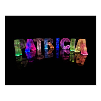The Name Patricia in 3D Lights (Photograph) Postcard