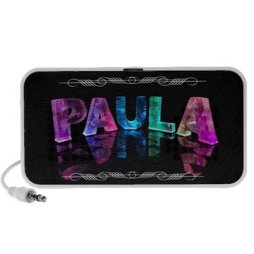 The Name Paula -  Name in Lights (Photograph) Notebook Speakers