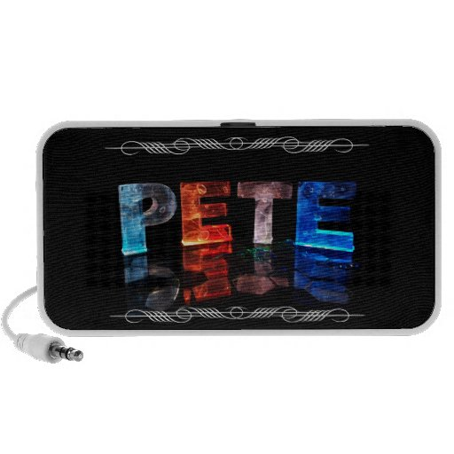 The Name Pete -  Name in Lights (Photograph) iPod Speaker