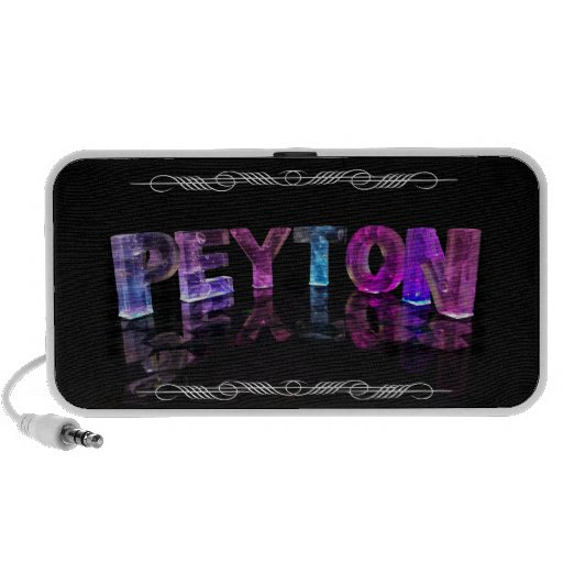 The Name Peyton -  Name in Lights (Photograph) Laptop Speakers
