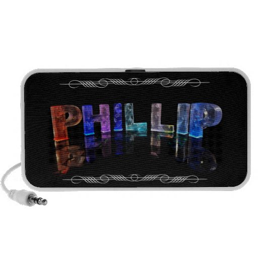The Name Phillip -  Name in Lights (Photograph) iPhone Speaker