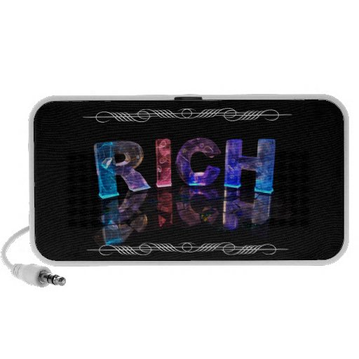 The Name Rich in 3D Lights (Photograph) Travel Speaker