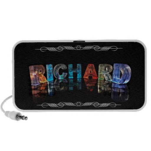 The Name Richard in 3D Lights (Photograph) Speakers
