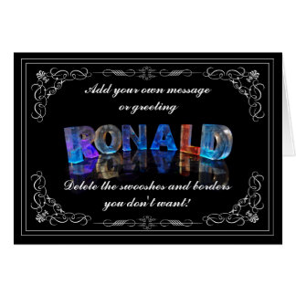 The Name Ronald in 3D Lights (Photograph) Card