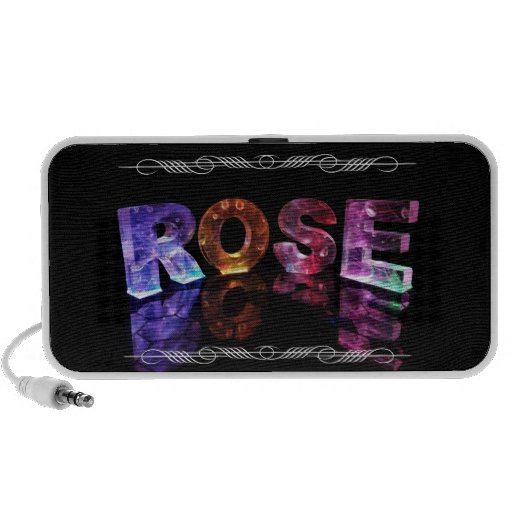The Name Rose in 3D Lights (Photograph) iPhone Speaker