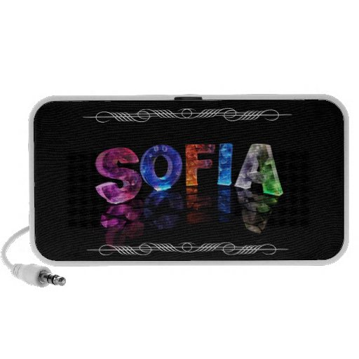 The Name Sofia -  Name in Lights (Photograph) iPod Speakers