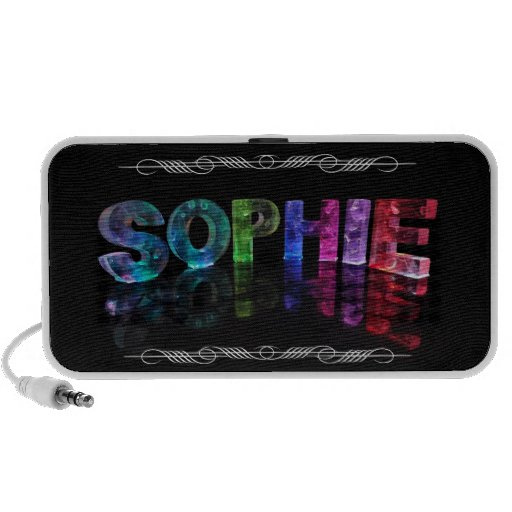 The Name Sophie -  Name in Lights (Photograph) Travelling Speaker