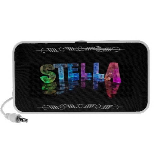 The Name Stella -  Name in Lights (Photograph) Portable Speakers