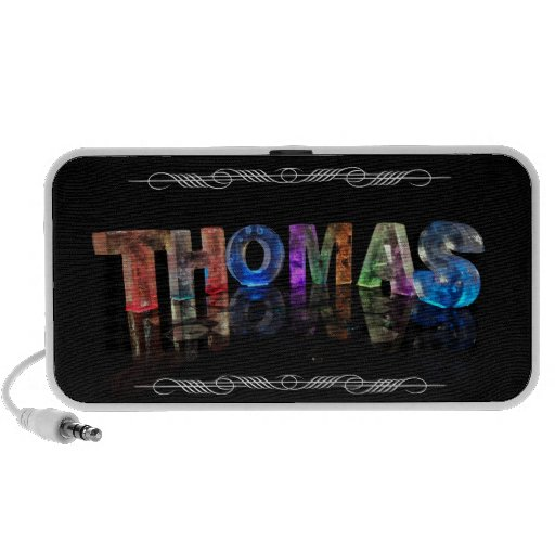 The Name Thomas -  Name in Lights (Photograph) Notebook Speaker