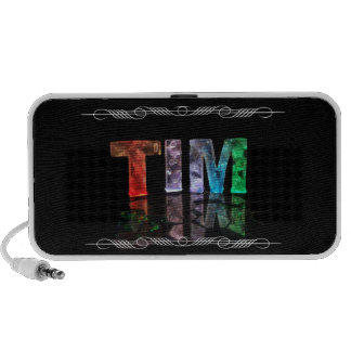 The Name Tim -  Name in Lights (Photograph) Mini Speakers