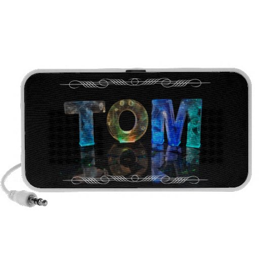 The Name Tom -  Name in Lights (Photograph) Travelling Speaker